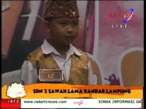 Lampung Gamolan Pekhing Festival 2016 SDN 2 SAWAH LAMA BANDAR LAMPUNG